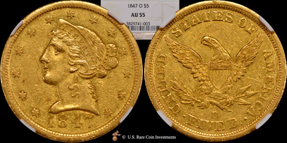 1847-O Half Eagle