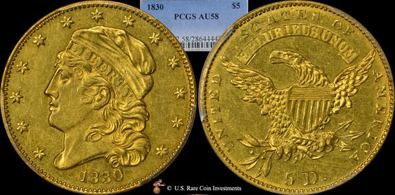 1855 Gold $1