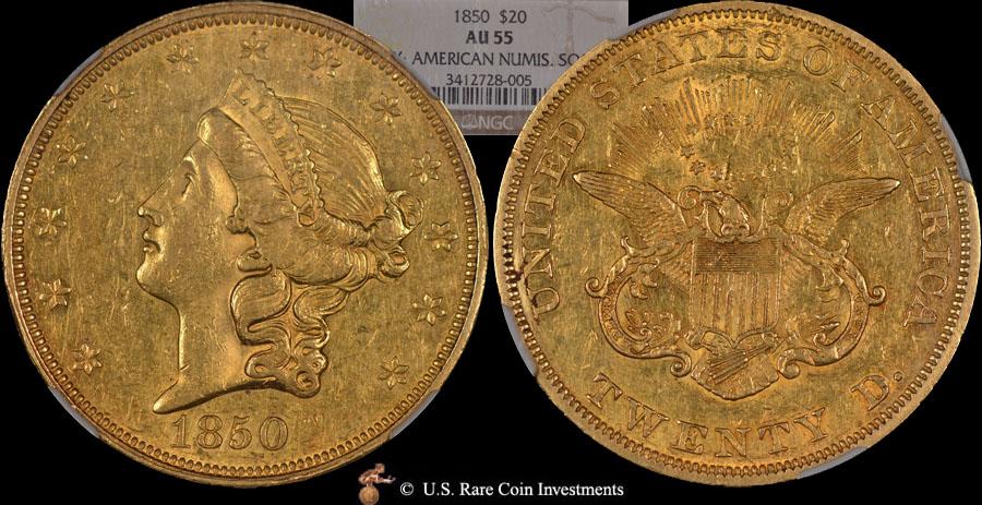 1850 Double Eagle For Sale 1850 20 Ans Ngc Au55