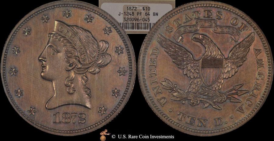 J-1248 1872 $10 Pattern